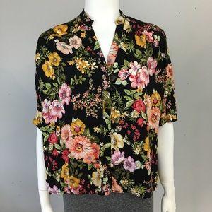 Zara Basic Oversized Button Up Shirt